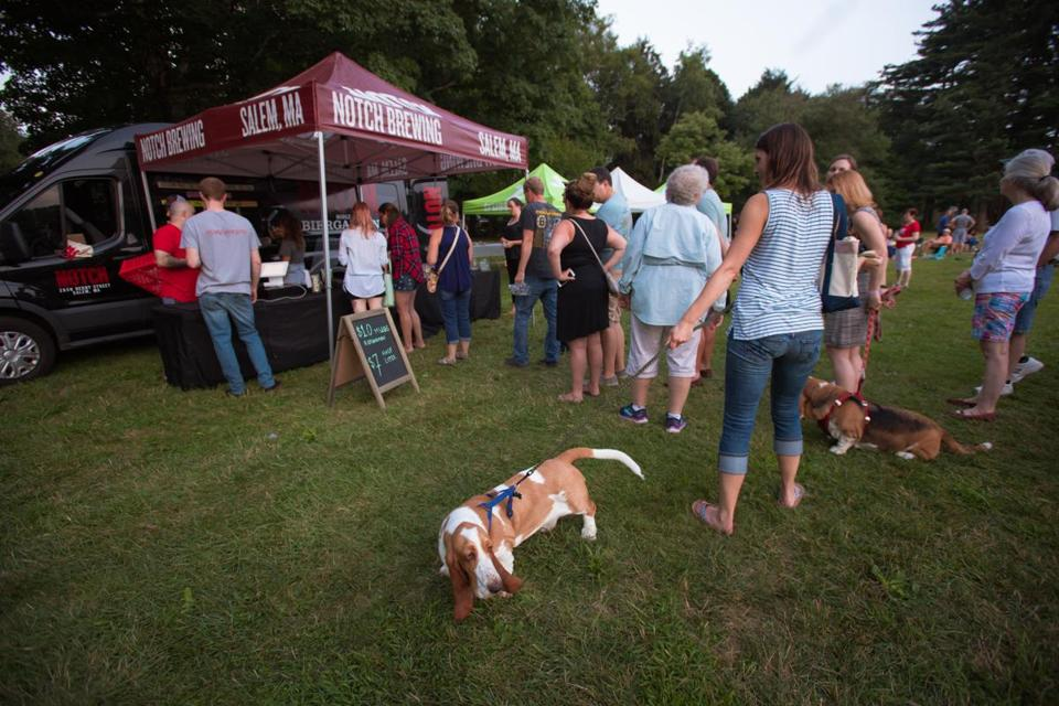 Kids and dogs had just as much fun as parents at Notch Brewery's Traveling Biergarten.